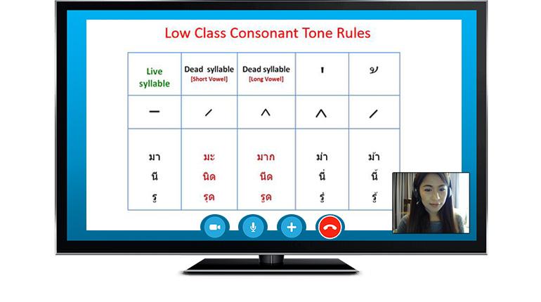 Study Thai Online via Skype